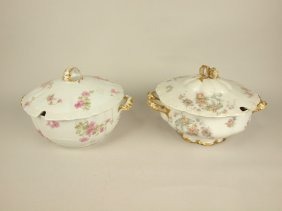 Haviland Lot Of 2 Chian Soup Tureens