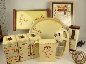 Hall Jewel Tea Autumn Leaf Lot Of 10 Pieces: Glass
