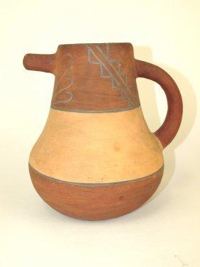 "Weller Souevo Art Pottery Jug, 8"""