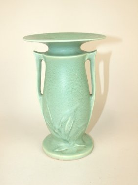 Roseville Crystal Green Vase, #932-7""