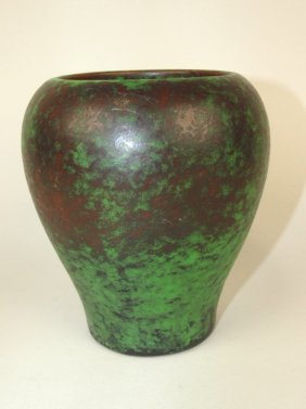 """Weller Coppertone Art Pottery Vase, 6 1/2"""""""