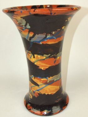 """Peters & Reed 12 1/2"""" Marblized Vase"""
