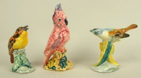 Stangl Pottery Lot Of 3 Birds: #3590, #1105, #3448
