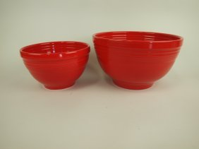 Fiesta Post 86 Scarlet 2 Piece Mixing Bowl Set