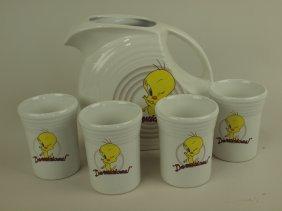 """Fiesta Post 86 Looney Tunes :tweety"""" Disk Water"""