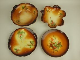 Laughlin Art China Lot Of 4 Bowls, Trays, & Plate Some