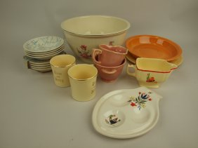 Homer Laughlin Lot Of Assorted Items
