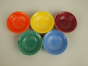 Fiesta Harlequin Nut Cup Group Of 5