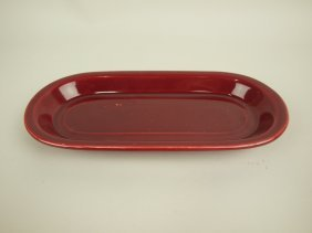 Fiesta Utility Tray, Rare, Maroon, Only One Known To