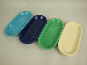 Fiesta Utility Tray Group: Cobalt, Ivory, Green, &