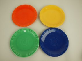 """Fiesta 6"""" Plate Group, 4 Mixed Colors"""