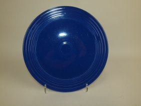 Fiesta Cake Plate, Rare, Cobalt