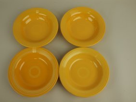 Fiesta Deep Plate Group: 4 Yellow
