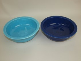 "Fiesta 8 1/2"" Nappy Bowl Group: Turquoise & Cobalt"
