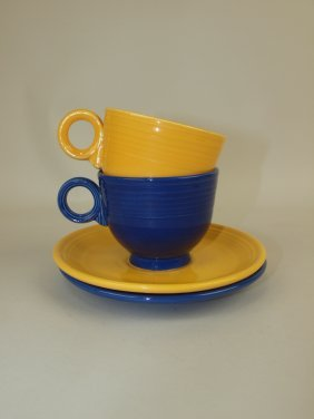 Fiesta Cup & Saucer Group: 2 Mixed Colors