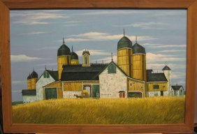 ROY CAYLSON - FARM BUILDINGS, , Signed Bottom Rig