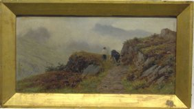 T. SPINKS - MOUNTAIN TRAIL, 1897, Signed And Date