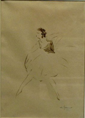 BALLERINA, European, Early 20th C., Signed Lower