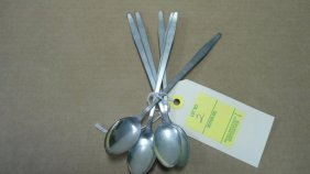 (6) Ice Tea Spoons, Sterling Silver, 5.08 Oz. Troy