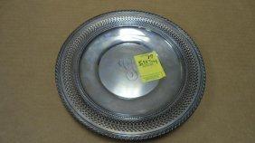 "Bread Plate, Sterling Silver, Gorham, 9"" Diameter,"