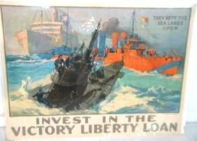 WWI Poster Sea Lanes Open