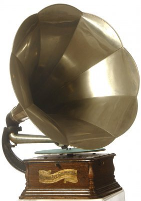 "COLUMBIA PHONOGRAPH ""GRAPHOPHONE"" DISC PLAYER - ALU"