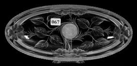 "Celery Tray - 10 1/2"" - Abcg - Signed Tuthill Wild Rose"