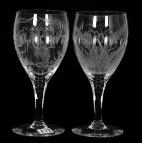 "Pair Goblets - 6 3/4"" - Abcg"