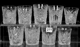 (9) Assorted Abcg Shot Glasses