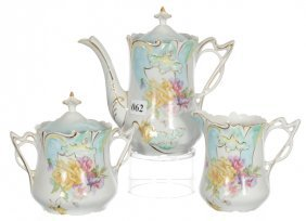 Three Piece Saxe Altenburg Tea Service