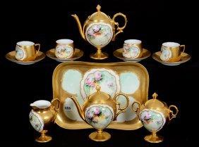 Thirteen Piece Pedestal Tea Service