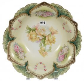 """10 1/2"""" Rsp Point And Clover Mold Bowl"""
