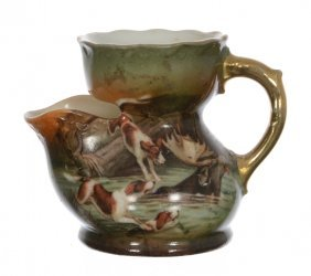 Miniature Unmarked Royal Bayreuth Scuttle Mug