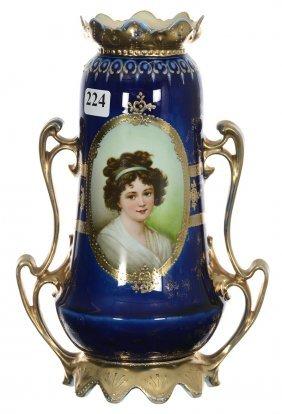 "9 1/4"" Royal Vienna Two-handled Vase"
