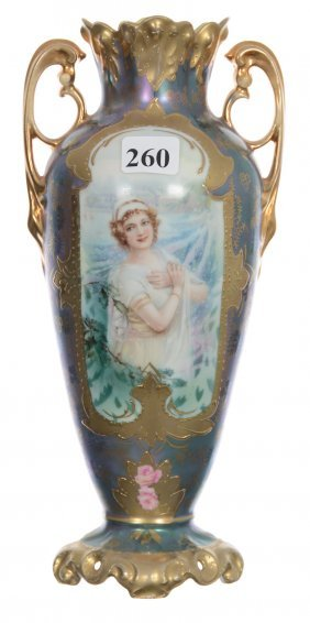 """Outstanding 9"""" Rsp Two-handled Vase"""