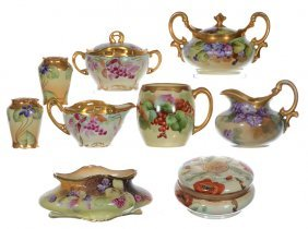 (9) Handpainted Porcelain Items