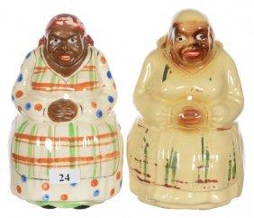 """(2) 6 1/2"""" Black Memorabilia Aunt Jemima Figural String"""