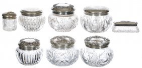 (8) Cut Glass And Pattern Glass Items With Embossed