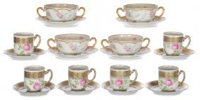 (10) Cups And Saucers Including
