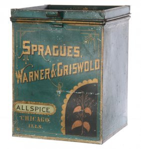 "11"" X 8 1/4"" Advertising Tin Container"