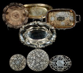 (7) Assorted Silver And Silverplate Items