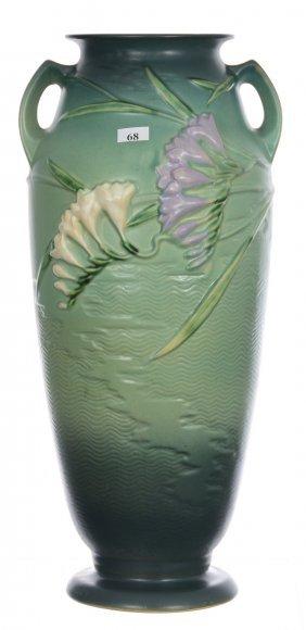 """Roseville Art Pottery #129-18"""" Two-handled Vase -"""