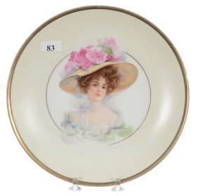 """8 1/2"""" Prussia """"griffith Mark"""" Handpainted Plate -"""