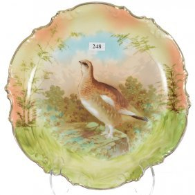 "11 1/2"" Prov Saxe Round Charger - Game Bird Scenic"