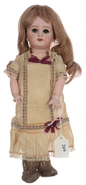 "13"" French Bisque ""les Bebes Jumeau"" Doll With Original"