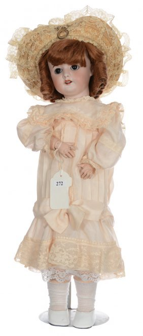 "19"" Marked ""sfbj 60"" French Bisque Doll With Mark ""3"" -"
