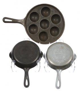 (3) Griswold Cast Iron & Aluminum Items