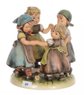 "7"" Marked Goebel (hummel #343) Figural Group"