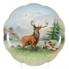 "14"" Marked ""a.k"" (limoges) Round Charger"