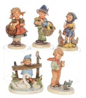 (5) Hummel Figurines Including